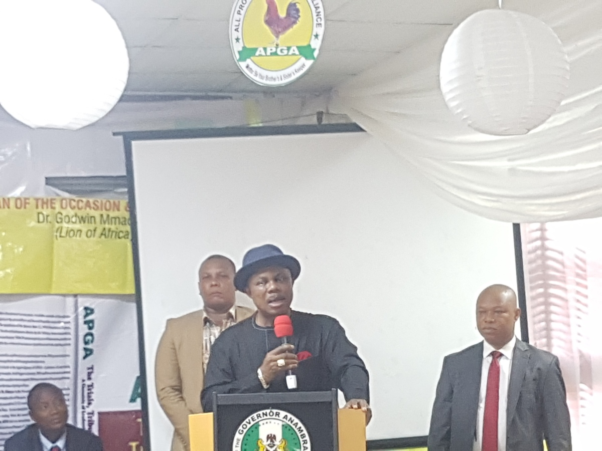 APGA PRIMARY ELECTIONS MUST BE FREE AND FAIR NO MATTER WHO YOU KNOW ~ Gov. Obiano warns