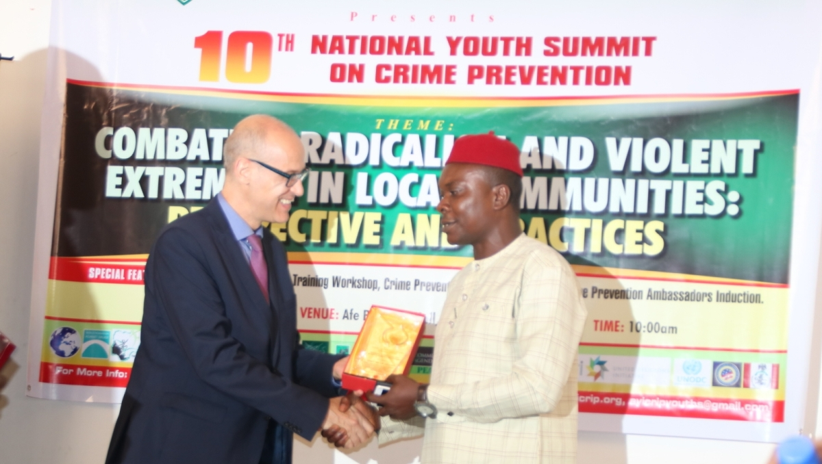 Gov. Obiano wins AYICRIP's Crime Prevention Personality of the Year, 2019.  By Obika Chidiebele Cy